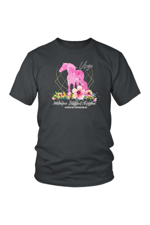 Virgo Horse Unisex Shirt-T-shirt-teelaunch-District Unisex Shirt-Charcoal-S-Three Wild Horses