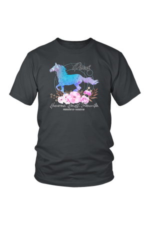 Pisces Horse Unisex Shirt-T-shirt-teelaunch-District Unisex Shirt-Charcoal-S-Three Wild Horses