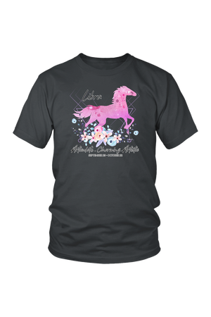 Libra Horse Unisex Shirt-T-shirt-teelaunch-District Unisex Shirt-Charcoal-S-Three Wild Horses