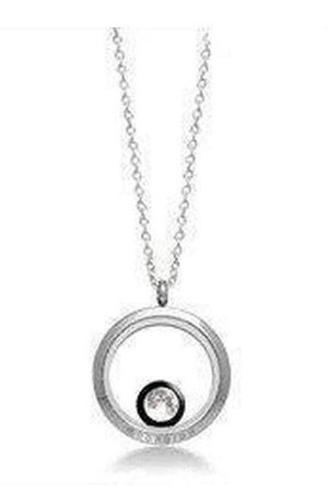 White Smoke One Custom Moon Phase Necklace in Stainless Steel