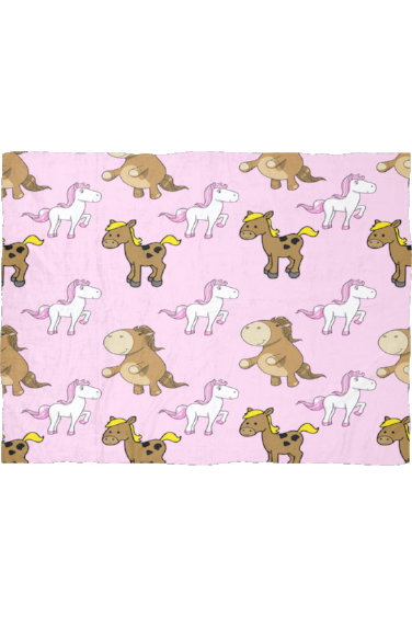 Party in Pink - Fleece Blanket-Blankets-teelaunch-Small-Three Wild Horses
