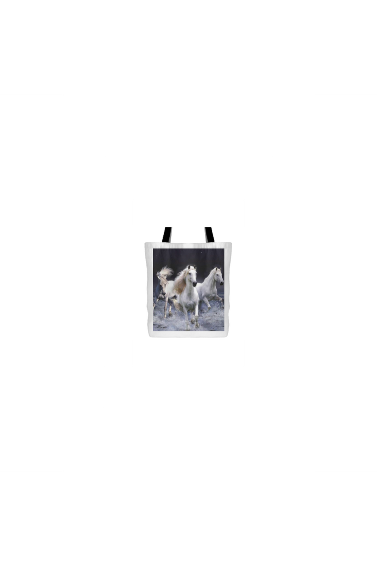 Three White Horses - Tote Bag