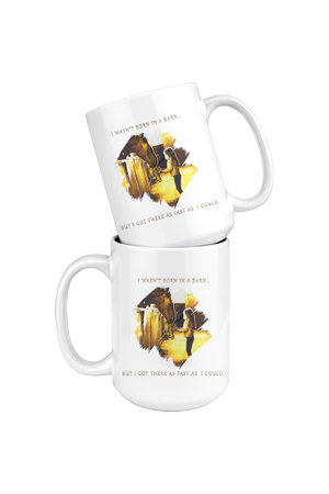 Born In A Barn Horse Mug-Drinkware-teelaunch-COFFEE MUG 15 OZ-Three Wild Horses
