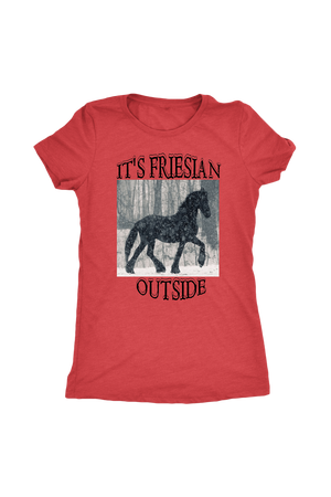 Maroon It's Friesian Outside T-Shirt
