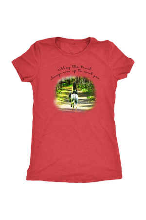 The Trail Always Rise - Tops-T-shirt-teelaunch-Ladies Triblend-Vintage Red-S-Three Wild Horses