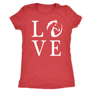 Maroon Horse Love T-Shirt
