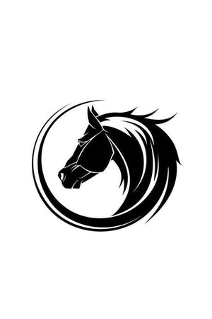 Horse Head - Car Window Decal-Stickers & Decals-Three Wild Horses-Black-Three Wild Horses