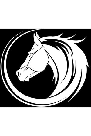 Horse Head - Car Window Decal-Stickers & Decals-Three Wild Horses-Silver-Three Wild Horses