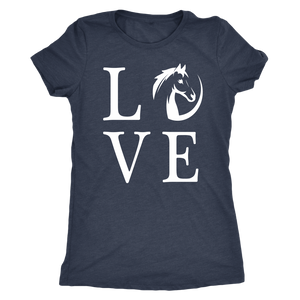 Dark Slate Gray Horse Love T-Shirt