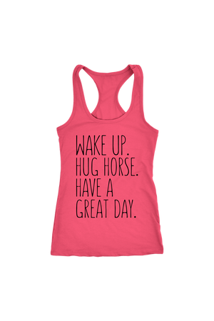 Salmon Hug Horse Have A Great Day Horse T-Shirt