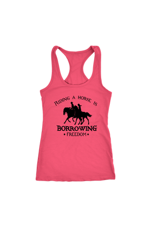 Salmon Riding A Horse - Borrowing Freedom T-Shirt