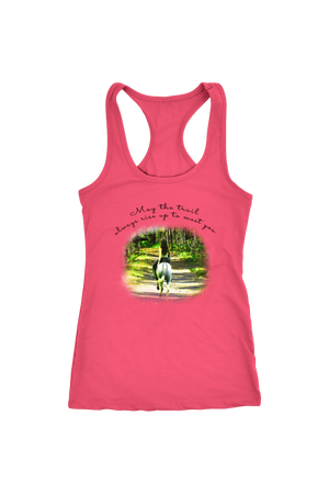 The Trail Always Rise - Tops-T-shirt-teelaunch-Racerback Tank-Hot Pink-S-Three Wild Horses