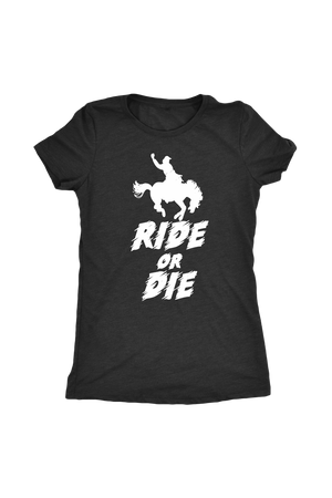 Dark Slate Gray Ride or Die T-Shirt in Black