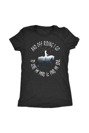 Dark Slate Gray And Off Riding I Go - T-Shirt