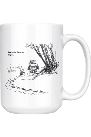 Piglet + Pooh Piglet Mug NSFW-Drinkware-teelaunch-COFFEE MUG 15 OZ-Three Wild Horses