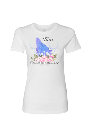 Taurus Horse Shirt for Women-T-shirt-teelaunch-Next Level Womens Shirt-White-S-Three Wild Horses