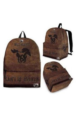 Dark Olive Green Rustic Horse Backpack