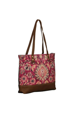 Blossom Flower Art Canvas Tote Bag-Tote Bags-Myra Bag-Three Wild Horses