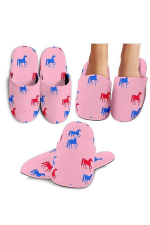 Light Pink Horse Pattern Slippers