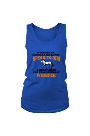A Great Rider - Tank Tops-Tops-teelaunch-Royal Blue-S-Three Wild Horses
