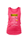 Caution! I ride horses - Tank Tops