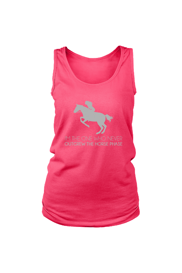 I Never Outgrew the Horse Phase - Tank Tops-Tops-teelaunch-Neon Pink-S-Three Wild Horses