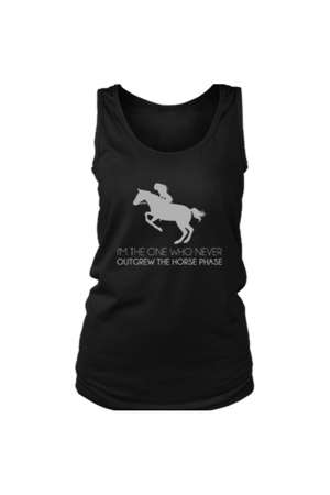 I Never Outgrew the Horse Phase - Tank Tops-Tops-teelaunch-Black-S-Three Wild Horses