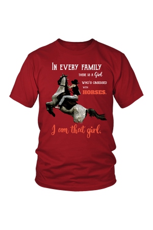 I Am That Girl - Tops-Tops-teelaunch-Unisex Tee-Red-S-Three Wild Horses