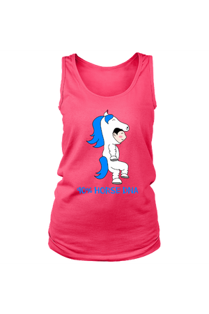 90% Horse DNA - Tank Tops-Tops-teelaunch-Neon Pink-S-Three Wild Horses
