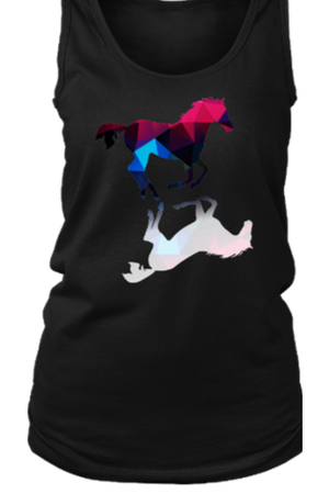 Foaling Around - Tank Tops-Tops-teelaunch-Black-S-Three Wild Horses