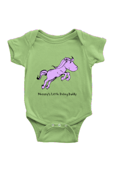 Mommy's Little Riding Buddy - Baby Onesies