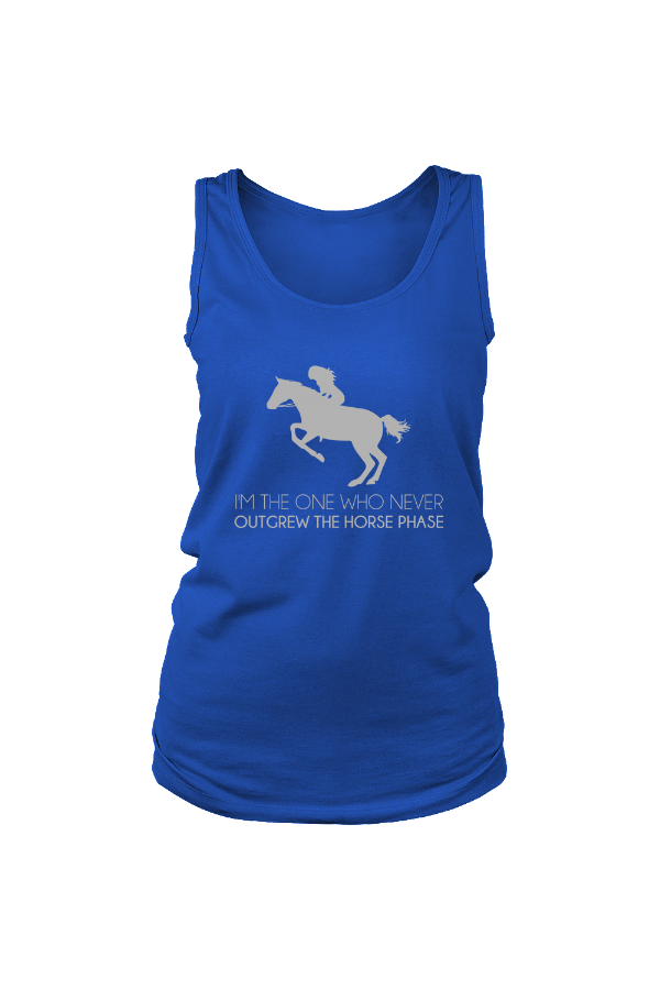 I Never Outgrew the Horse Phase - Tank Tops-Tops-teelaunch-Royal Blue-S-Three Wild Horses