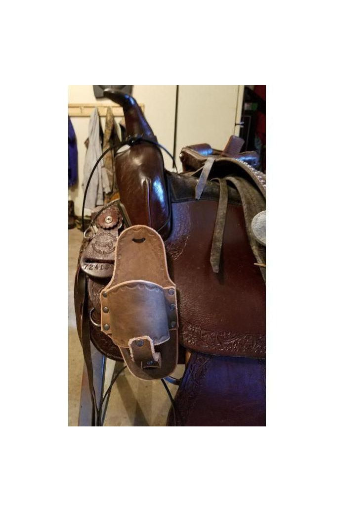 Custom Cup Holder for Horse Saddles in Gray