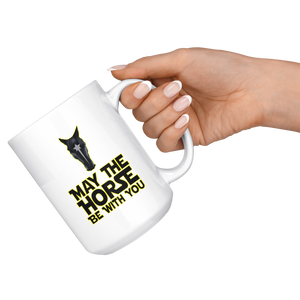 Snow May The Horse Be With You Mug