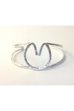 Barefoot Horseshoe Double Cuff Bracelet-Jewelry-JenCervelli-Solid Piece-STERLING SILVER-Three Wild Horses