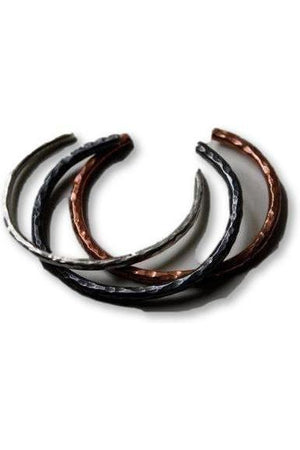 "Horseshoe Single Cuff Bracelet-Jewelry-JenCervelli-Copper-Shiny-6.5""-Three Wild Horses"