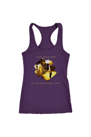 I Was Not Born In The Barn Tops-T-shirt-teelaunch-Racerback Tank-Purple-S-Three Wild Horses