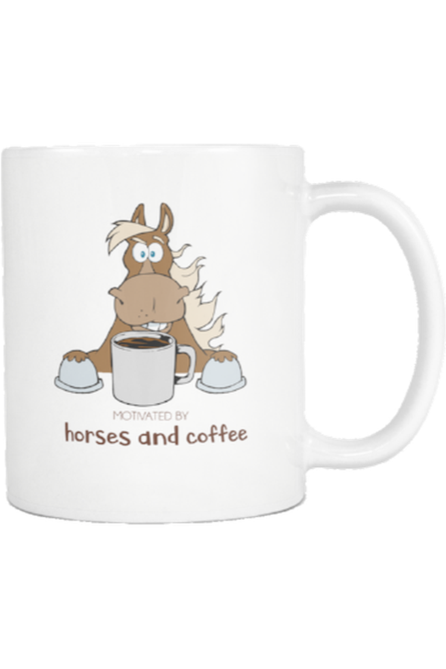 Motivated by Horses and Coffee - Mug