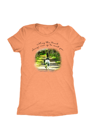 The Trail Always Rise - Tops-T-shirt-teelaunch-Ladies Triblend-Vintage Light Orange-S-Three Wild Horses