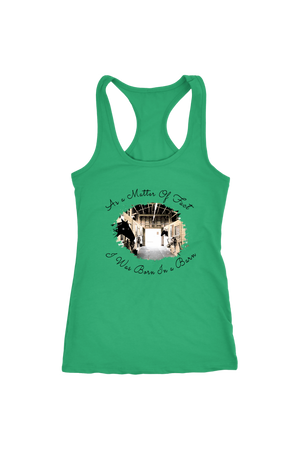 Born In A Barn - Tops-T-shirt-teelaunch-Racerback Tank-Kelly-S-Three Wild Horses