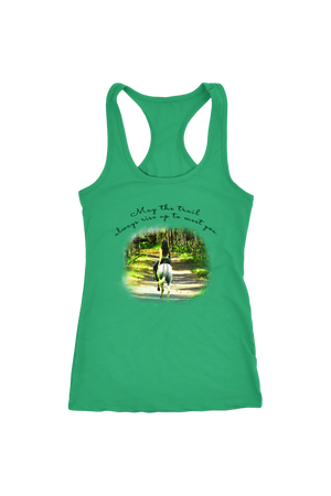 The Trail Always Rise - Tops-T-shirt-teelaunch-Racerback Tank-Kelly-S-Three Wild Horses