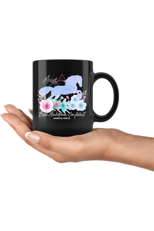 Aries Zodiac Horse Black Mug-Drinkware-teelaunch-Aries Blue Horse Black Mug-Three Wild Horses