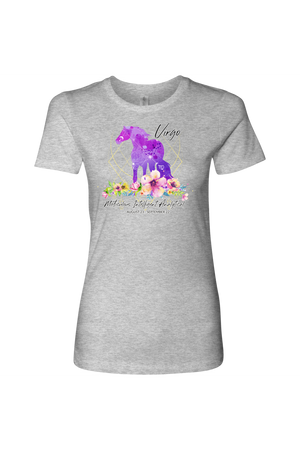 Virgo Horse Shirt for Women-T-shirt-teelaunch-Next Level Womens Shirt-Heather Grey-S-Three Wild Horses