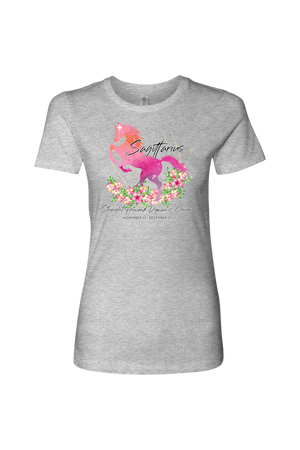 Sagittarius Horse Shirt for Women-T-shirt-teelaunch-Next Level Womens Shirt-Heather Grey-S-Three Wild Horses