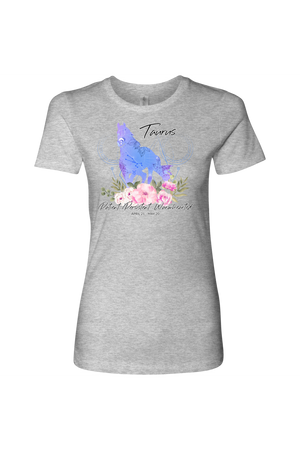Taurus Horse Shirt for Women-T-shirt-teelaunch-Next Level Womens Shirt-Heather Grey-S-Three Wild Horses