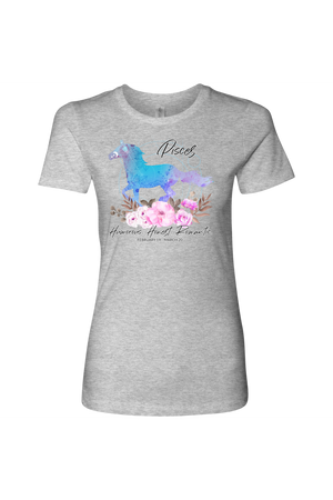 Pisces Horse Shirt for Women-T-shirt-teelaunch-Next Level Womens Shirt-Heather Grey-S-Three Wild Horses