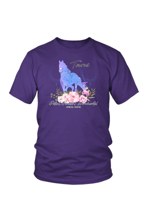 Taurus Horse Unisex Shirt-T-shirt-teelaunch-District Unisex Shirt-Purple-S-Three Wild Horses
