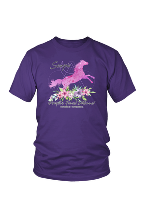 Scorpio Horse Unisex Shirt-T-shirt-teelaunch-District Unisex Shirt-Purple-S-Three Wild Horses