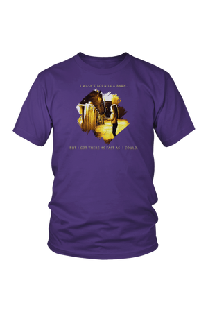 I Was Not Born In The Barn Tops-T-shirt-teelaunch-Unisex Tee-Purple-S-Three Wild Horses