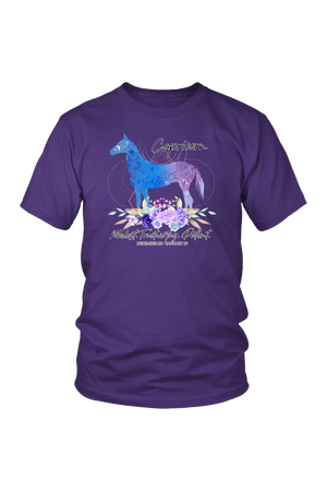Capricorn Horse Unisex Shirt-T-shirt-teelaunch-District Unisex Shirt-Purple-S-Three Wild Horses